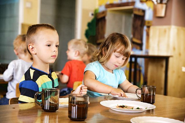 Jadalnia w przedszkolu Jedyneczka